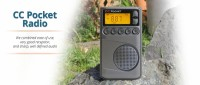 CC Pocket AM, FM, NOAA Weather Radio + Alert with Clock and Sleep Timer #CCPKT - Zoom
